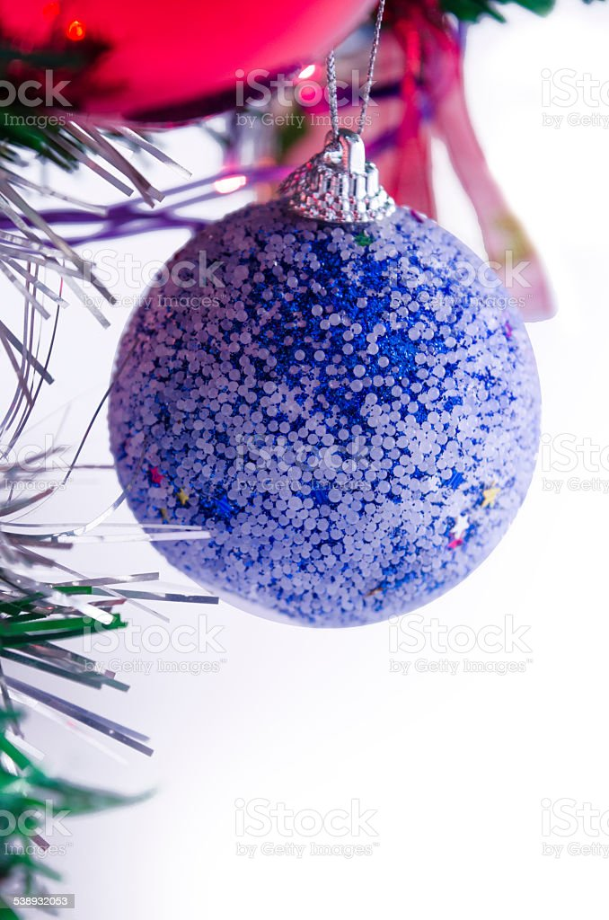Blue Christmas decoration sphere royalty-free stock photo