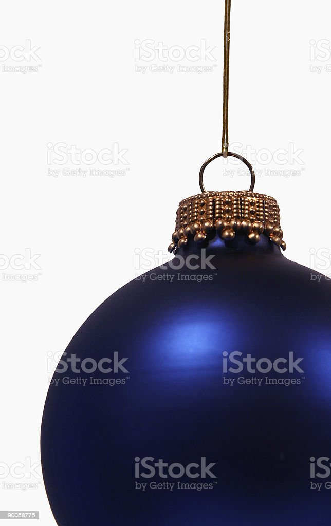 Blue Christmas decoration with text space royalty-free stock photo