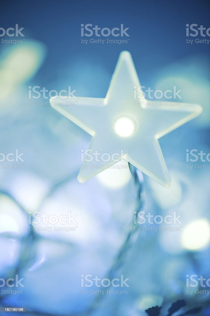 blue christmas light royalty-free stock photo