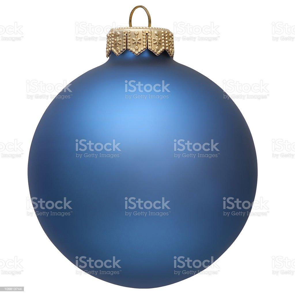 blue christmas ornament . royalty-free stock photo
