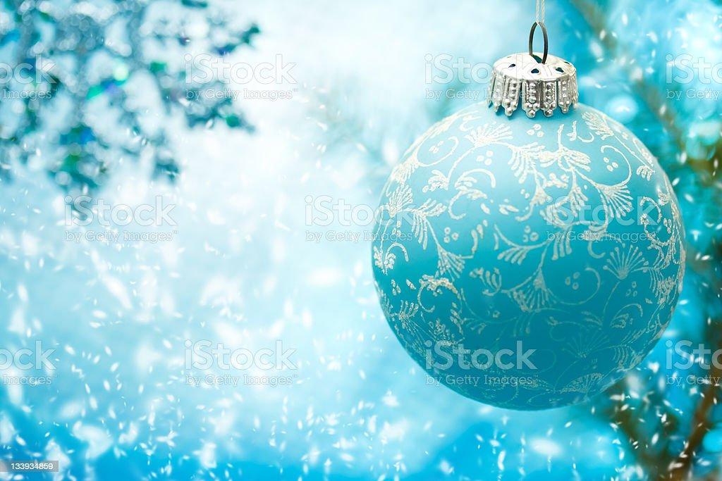 Blue Christmas ornament royalty-free stock photo