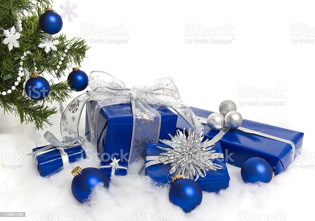 Blue Christmas royalty-free stock photo