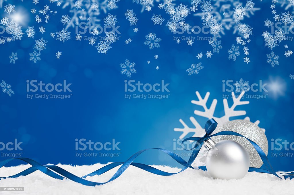 Blue christmas stock photo