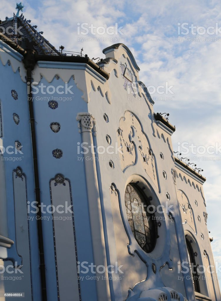 Blue Church in Bratislava in Slovakia Europe stock photo
