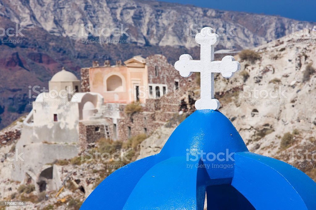 blue church roof royalty-free stock photo