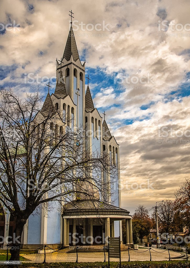 Blue Church with Five Spires royalty-free stock photo