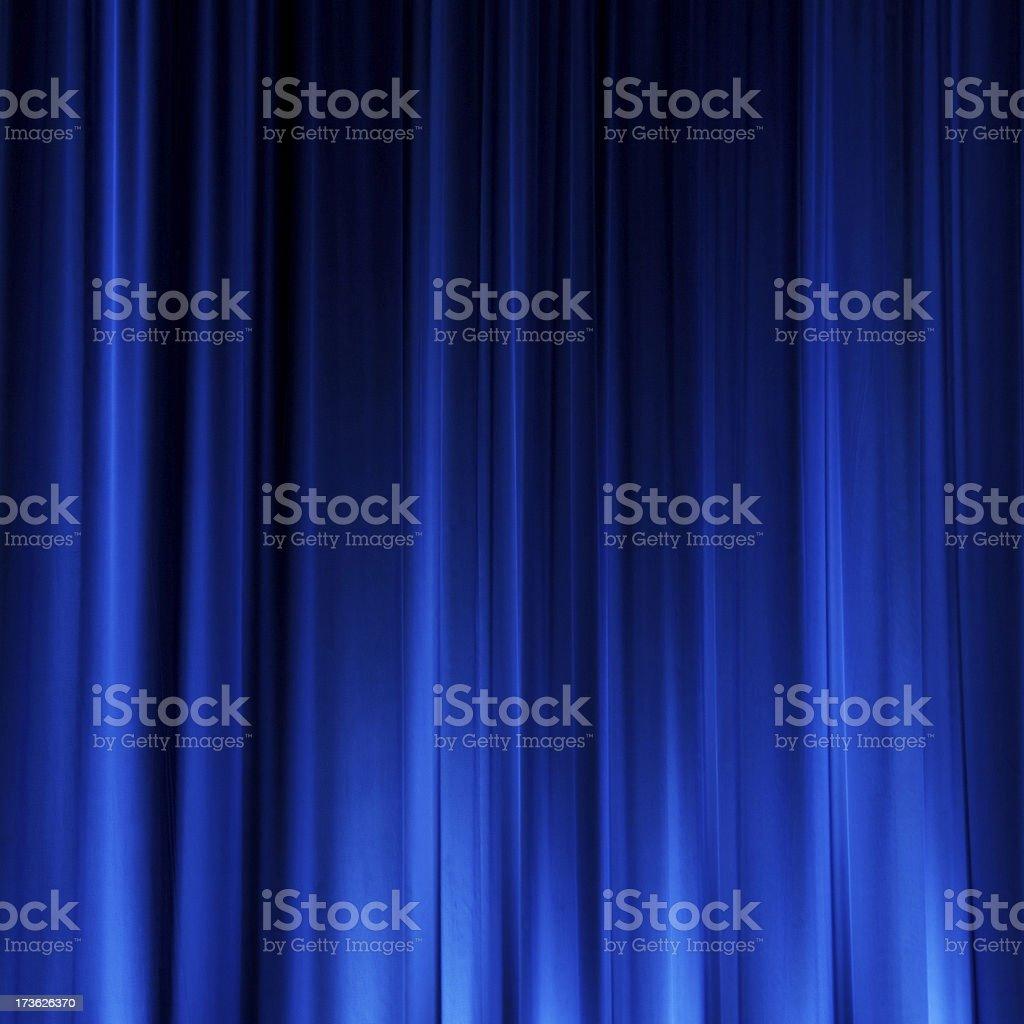 Blue Cinema Curtain stock photo