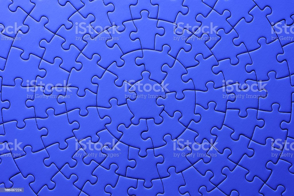 Blue circle jigsaw puzzle texture background royalty-free stock photo
