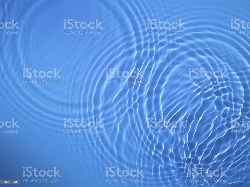 Blue circle water ripple background stock photo