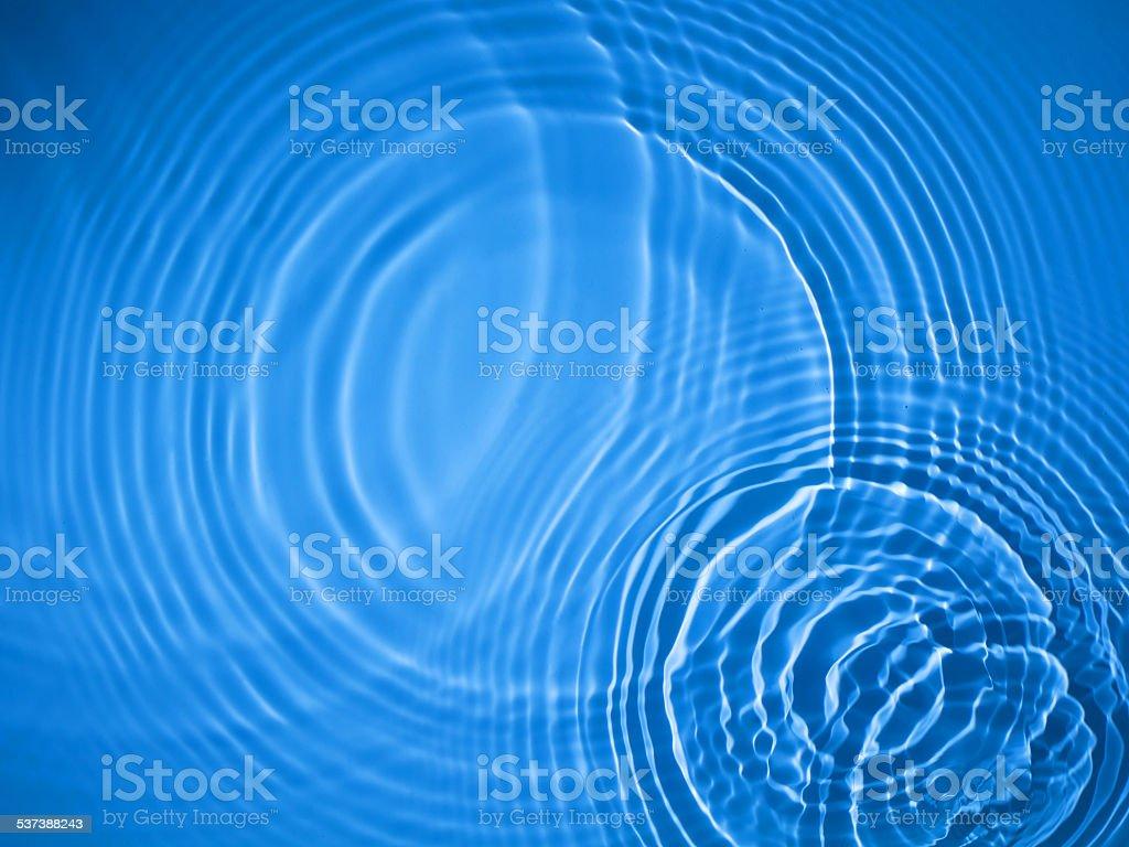 Blue circle water ripple background stock photo