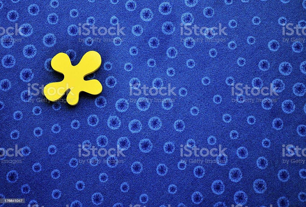 Blue Kreisen Hintergrund Ungleichmäßige Form und Gelb Lizenzfreies stock-foto