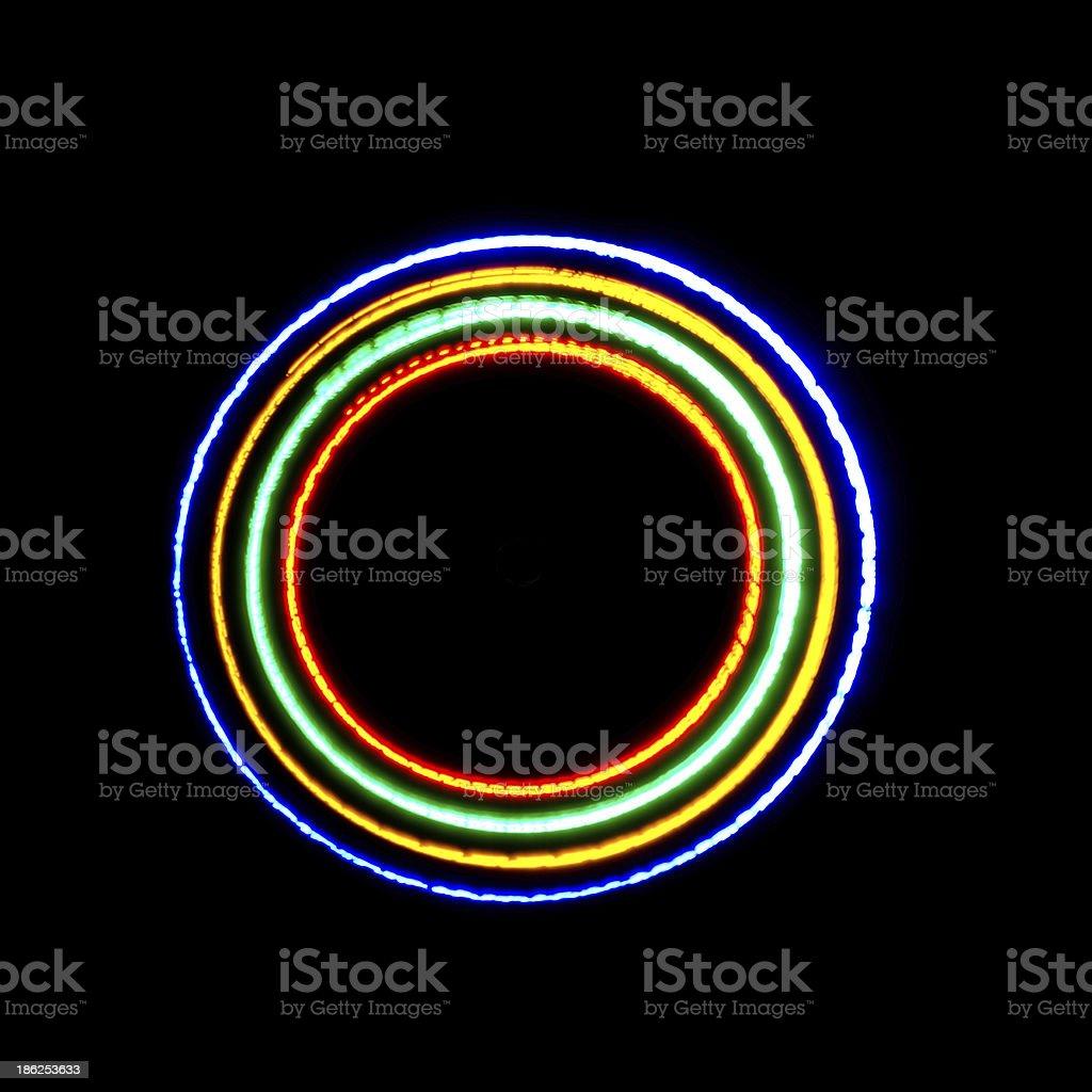 Blue circular light track royalty-free stock photo