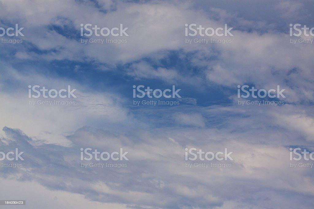 Blue cirrus royalty-free stock photo