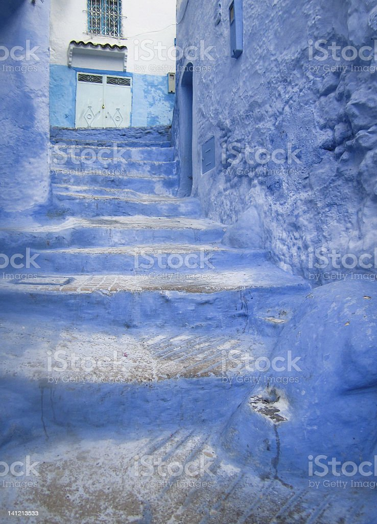 Blue city Chefchaouen in Morocco royalty-free stock photo