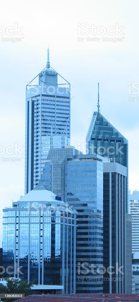 blue city - from a distance stock photo