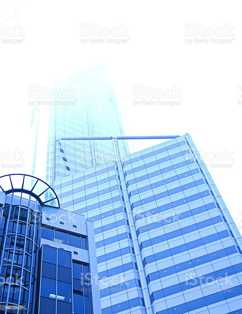 blue city - lost in clouds royalty-free stock photo
