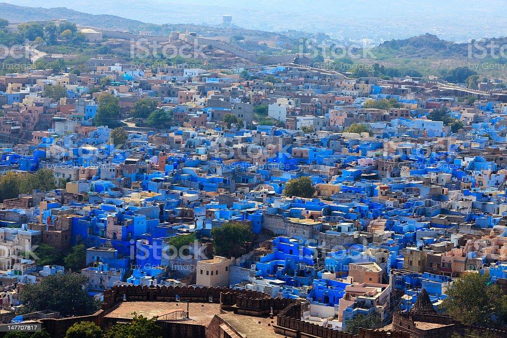 Blue city of jodhpur in Rajasthan, India stock photo
