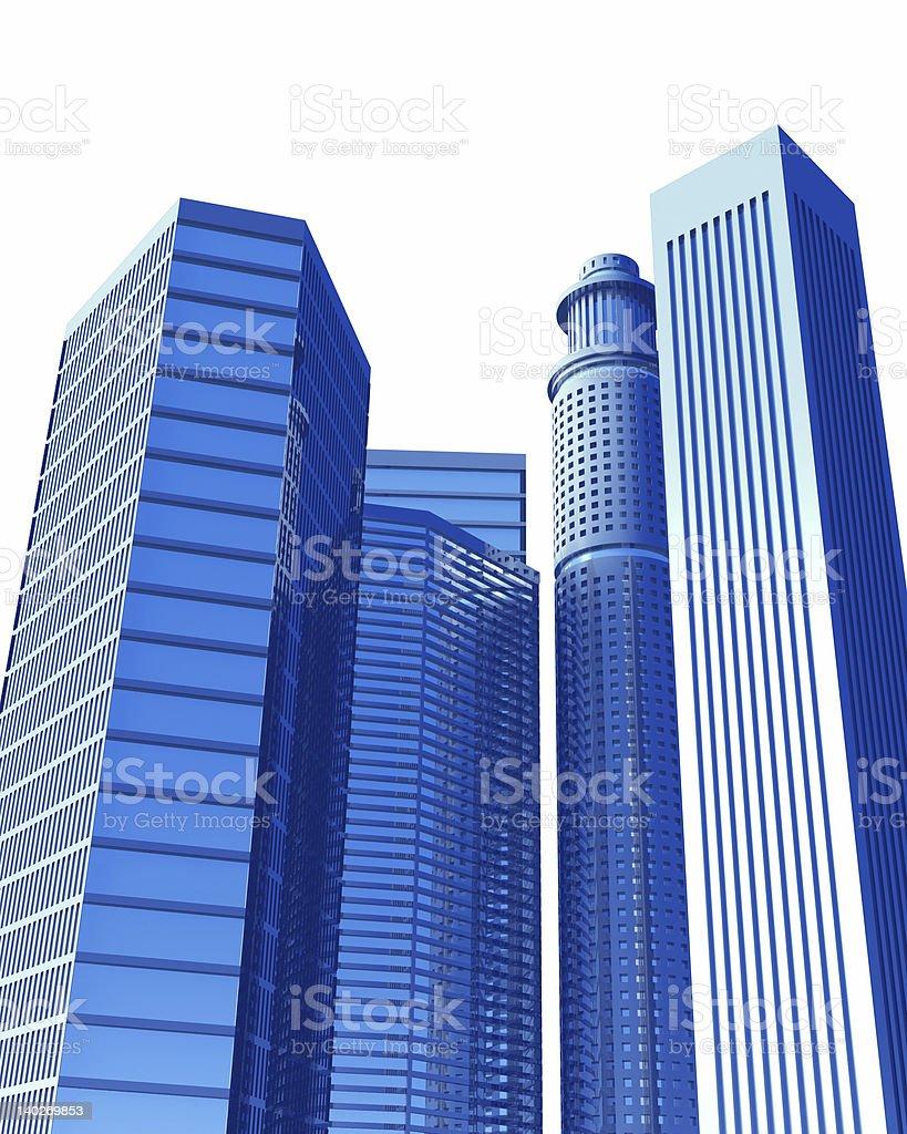 Blue City royalty-free stock photo