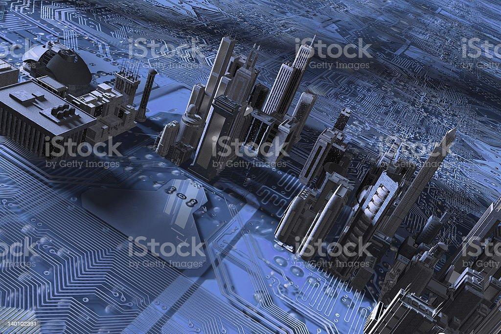 blue citychip royalty-free stock photo
