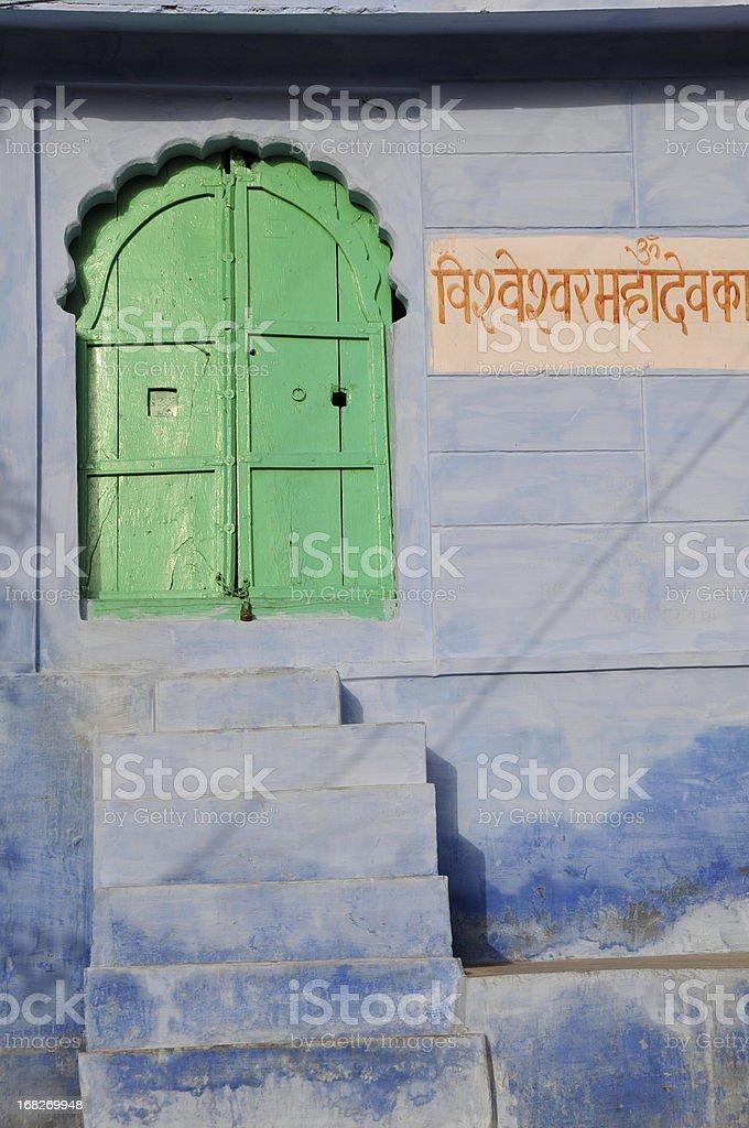 Blue city,Jodhpur,Rajasthan,India. stock photo