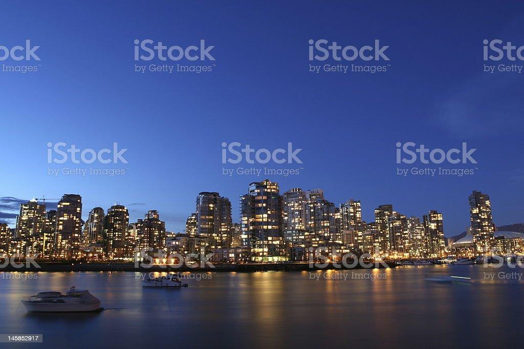 Blue Cityscape royalty-free stock photo
