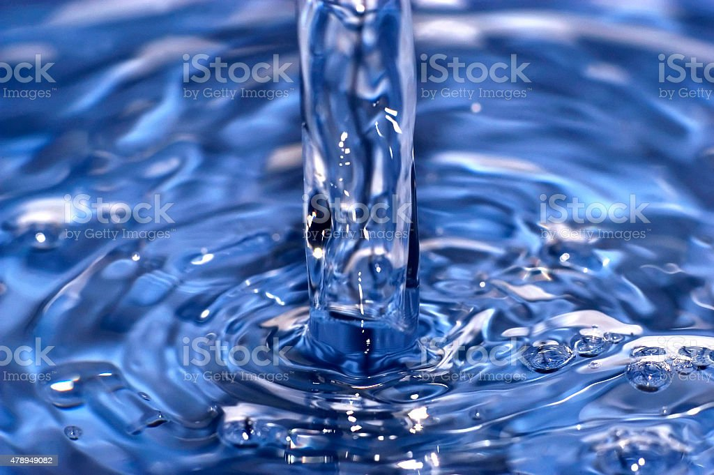 Blue Clear Pool of Water stock photo