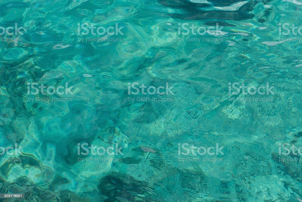Blue clear sea surface. stock photo