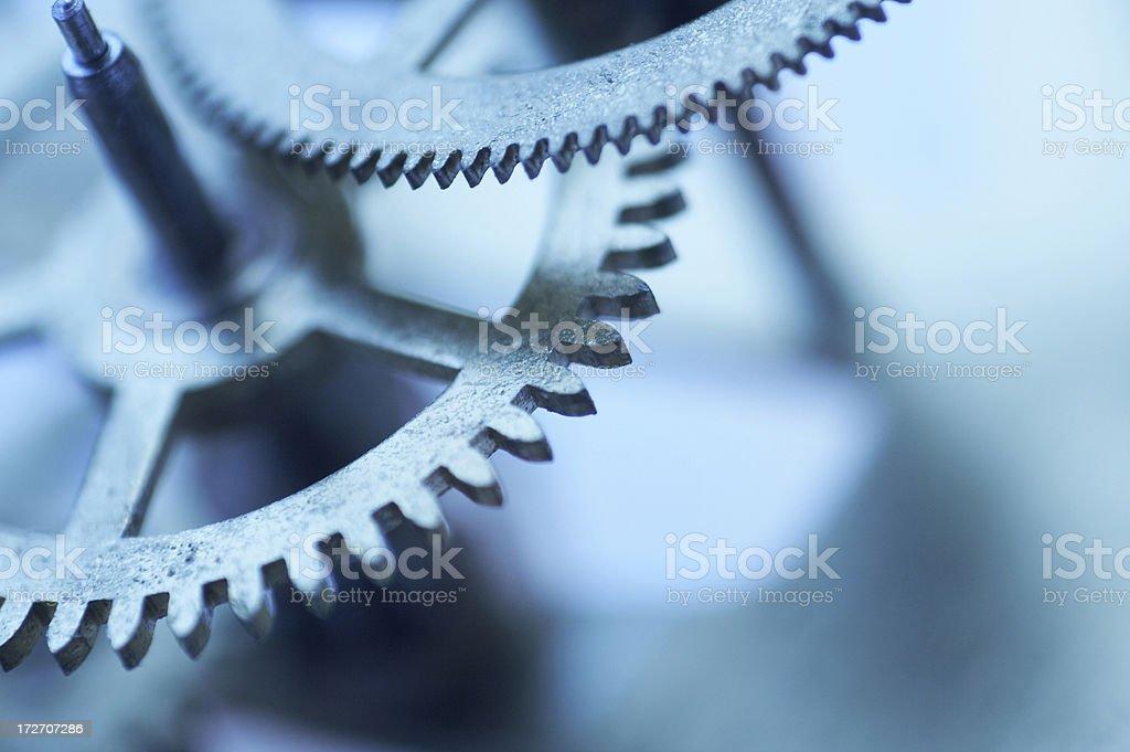 blue clockwork royalty-free stock photo