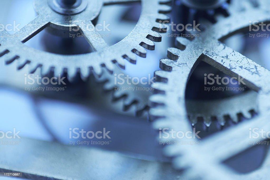 blue clockwork stock photo