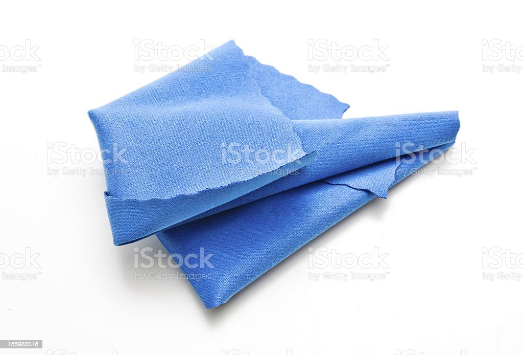 Blue cloth royalty-free stock photo