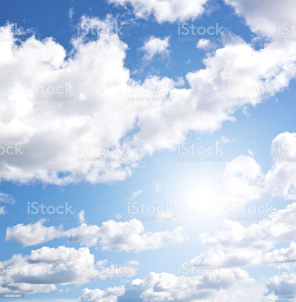Blue cloudly sky royalty-free stock photo