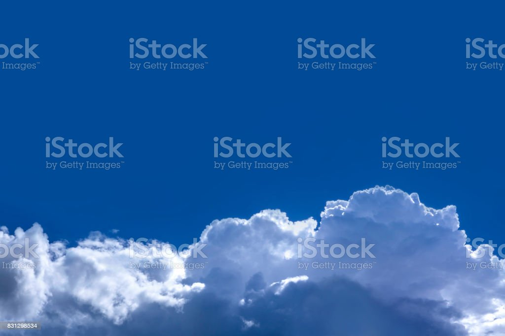 Blue clouds and sky stock photo
