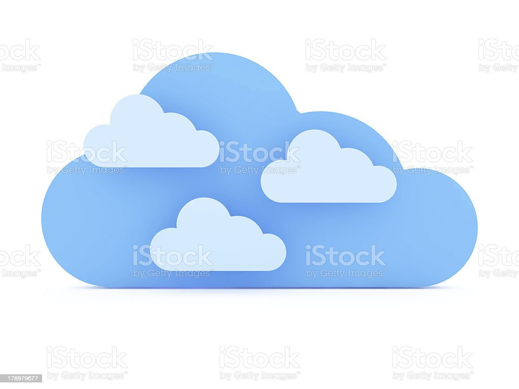 Blue Clouds royalty-free stock photo