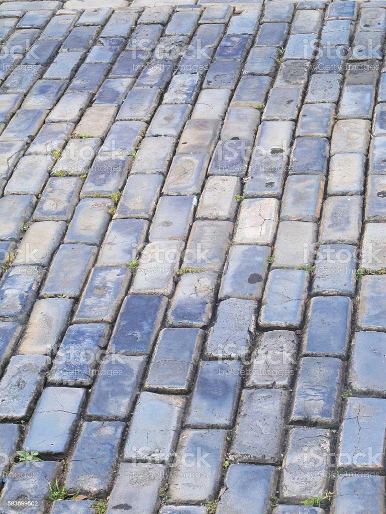 Blue Cobblestones stock photo