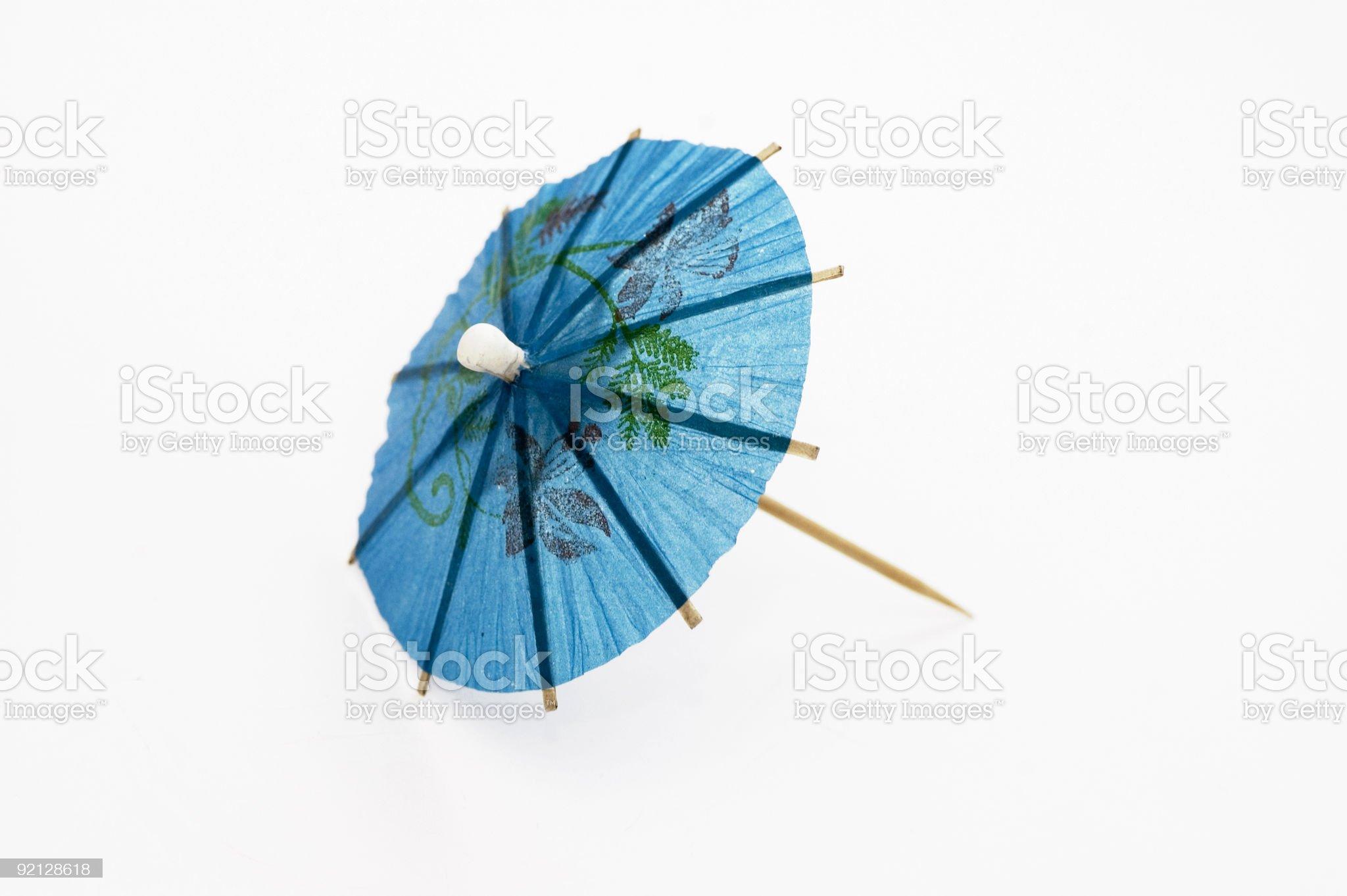 Blue Cocktail Umbrella royalty-free stock photo