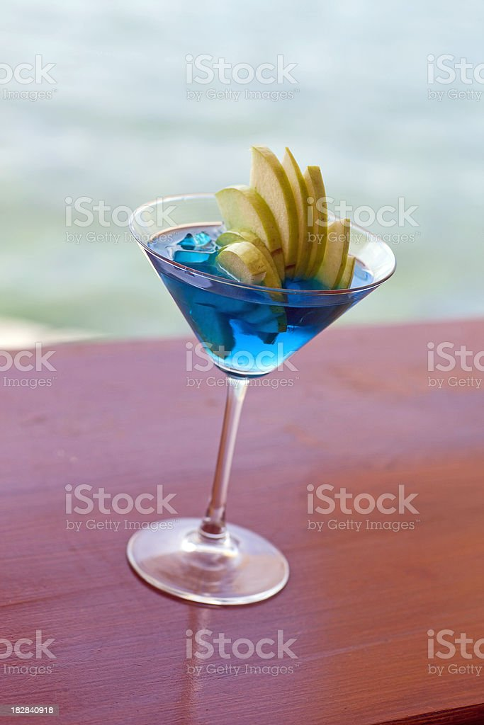Blue Coctail royalty-free stock photo