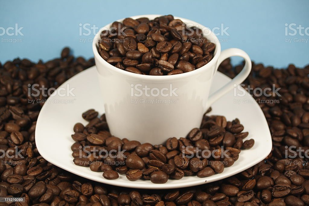 Blue Coffee royalty-free stock photo