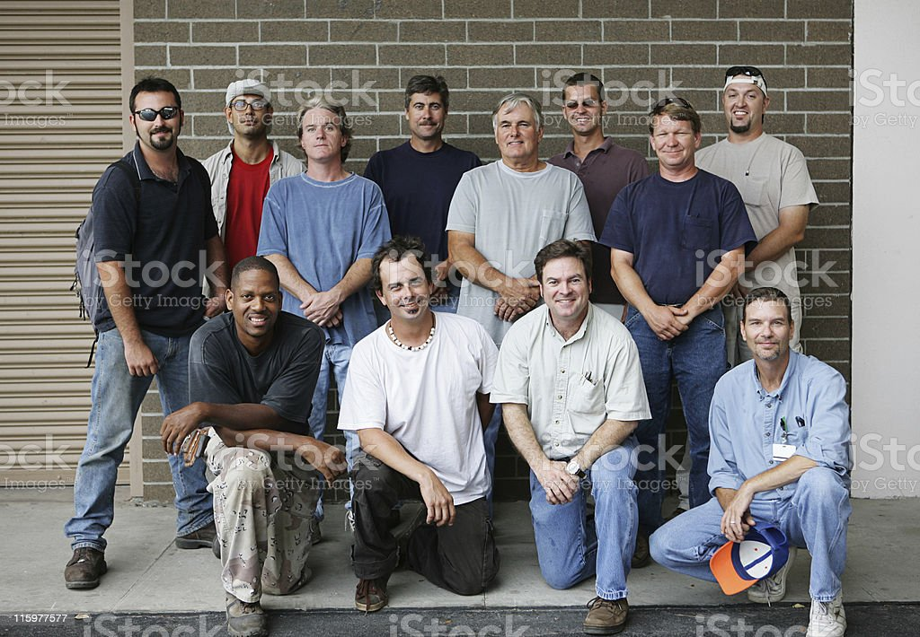 Blue Collar Guys royalty-free stock photo