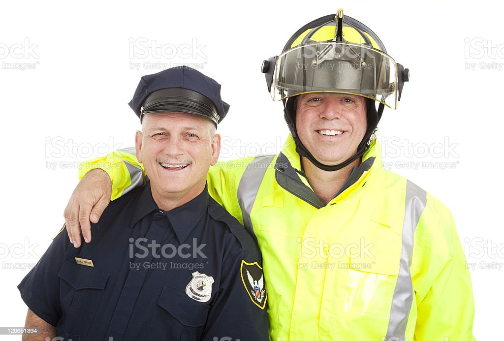 Blue Collar Heroes Isolated royalty-free stock photo