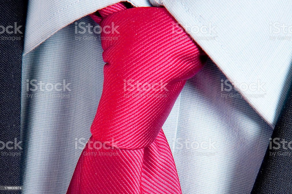 blue collar with pink tied necktie royalty-free stock photo
