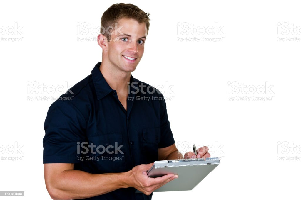 Blue collar worker royalty-free stock photo