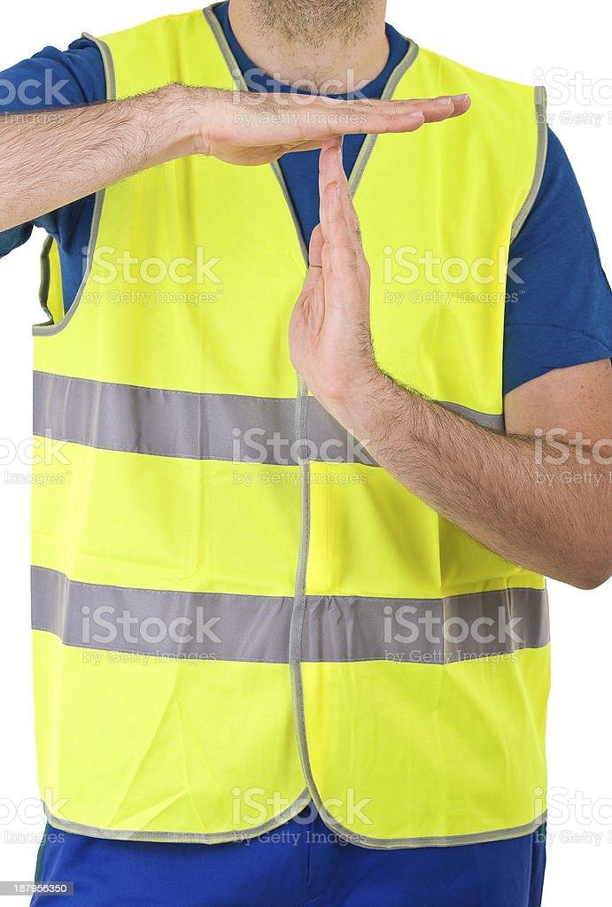 Blue collar worker. stock photo