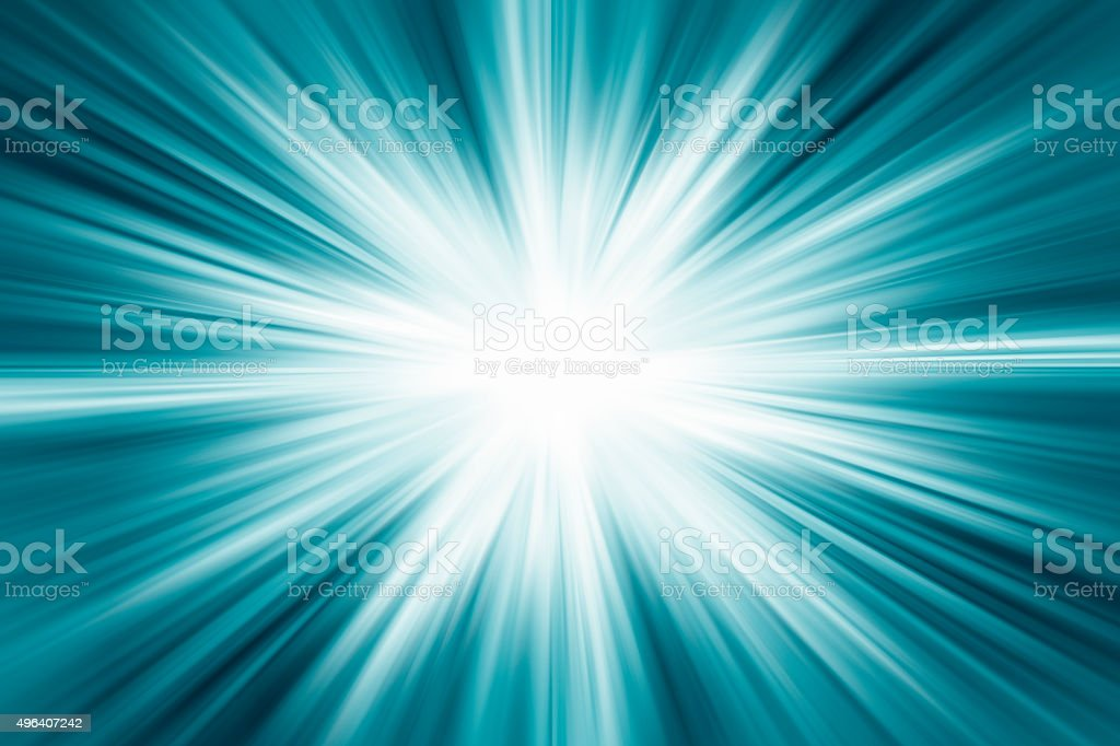 Blue color design with a burst. stock photo
