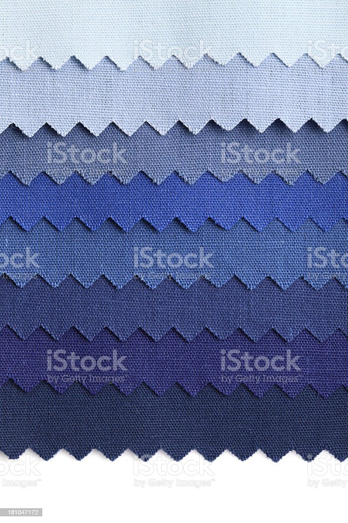 Blue Color Fabric Swatch Background royalty-free stock photo