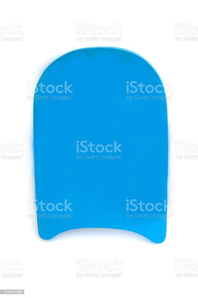 Blue color pool kick board stock photo