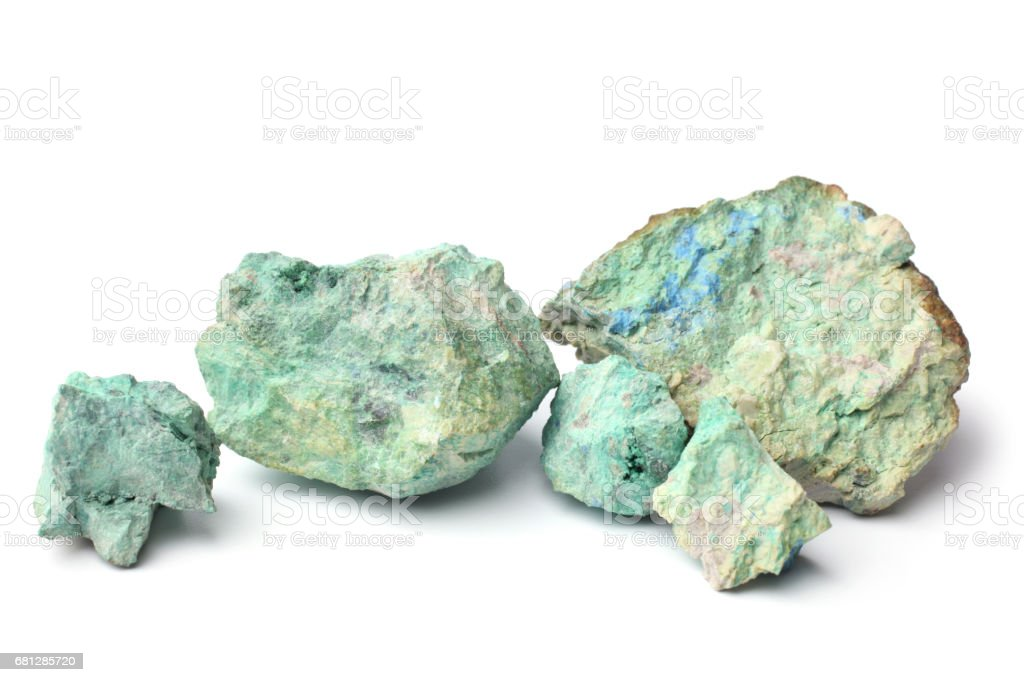 Blue color stone stock photo