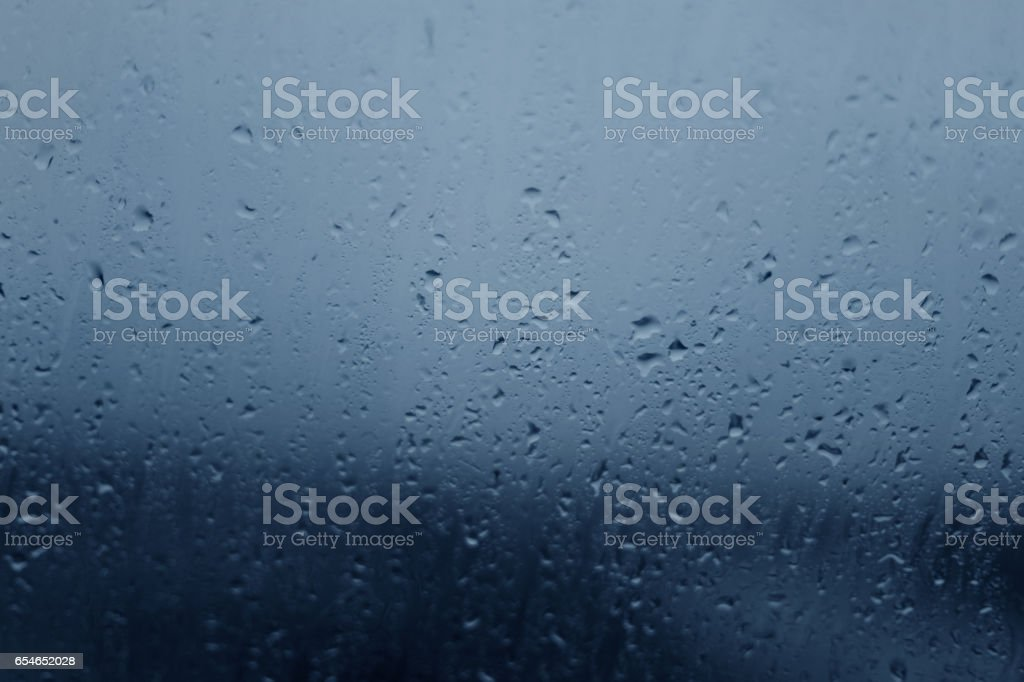 Blue Color Water Drops stock photo