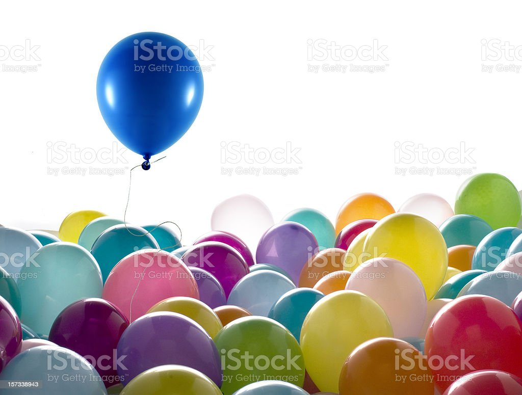 blue colored balloon stock photo