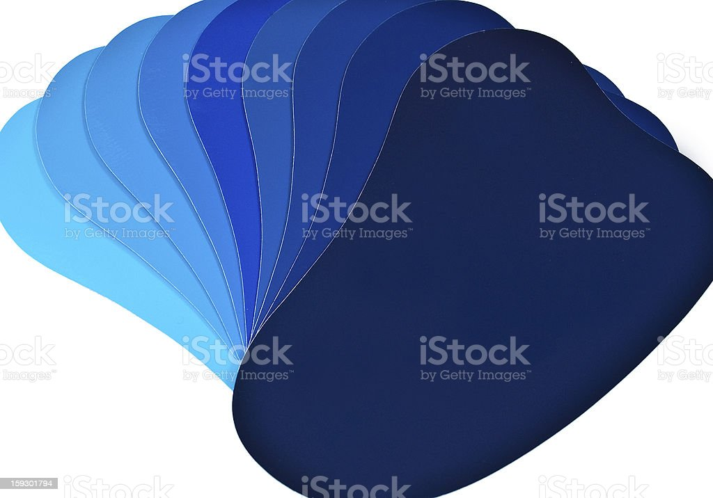 blue colour shade cards stock photo