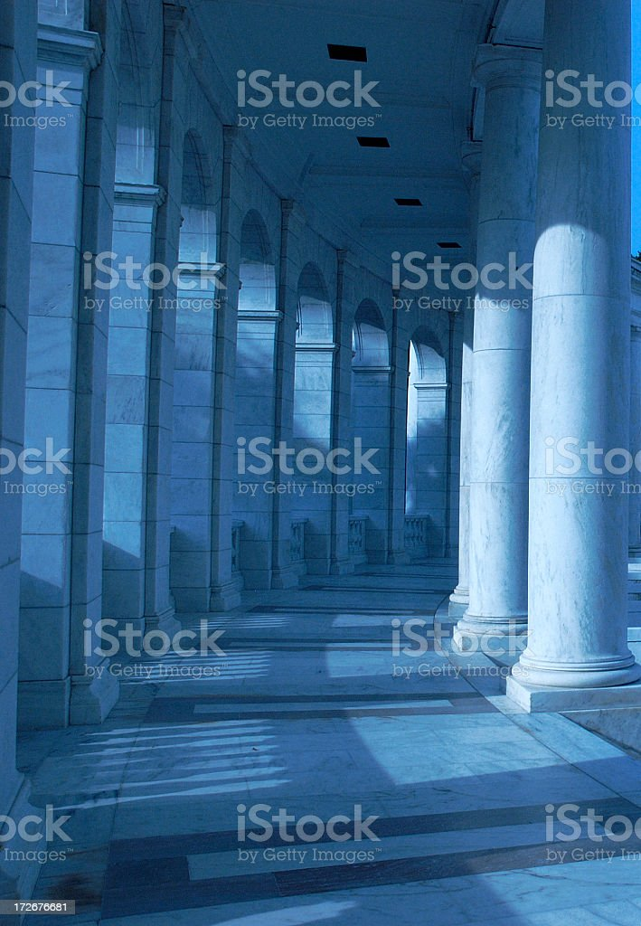 Blue columns stock photo